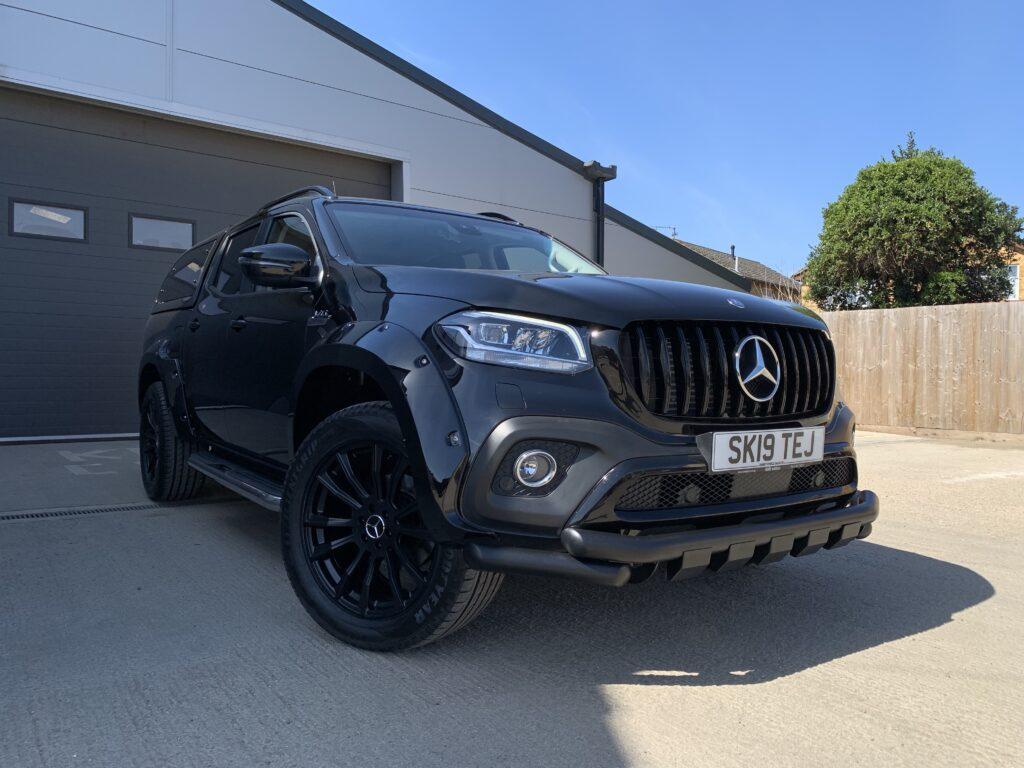 mercedes x350d black